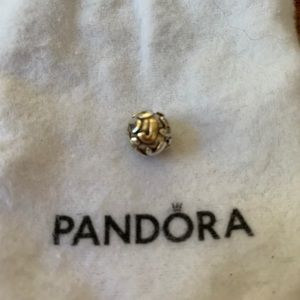"Beautiful Pandora gold and silver ""J"" charm"